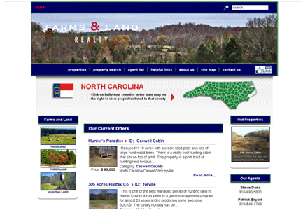 Farms and Land Realty website image