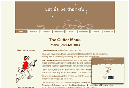 The Gutter Man © website image